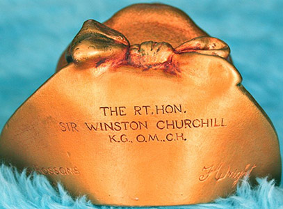 Gilded Winston Churchill Bottom